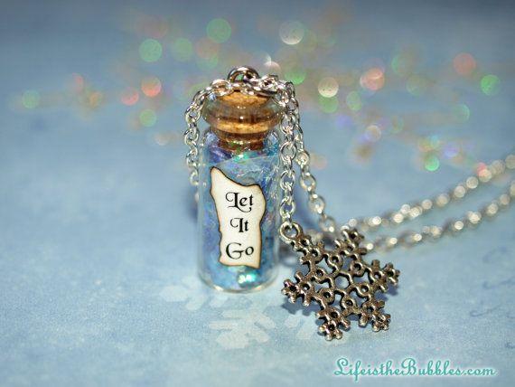 LET IT GO Disney's Frozen Necklace! This is soo cute! I LOVE IT!!!!!!!!!!!!!!!!!