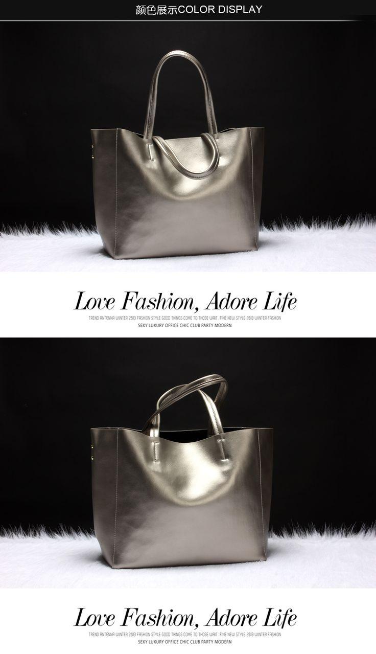 2015 летом новый европейский и американский Дикий отдых мода простой жемчуг натуральная кожа г-жа плечо портативный прилив большой мешок - Taobao