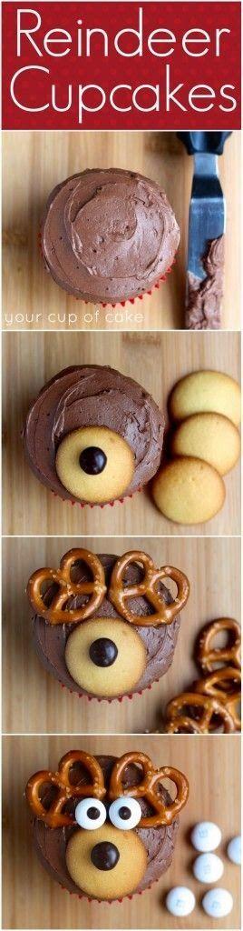 all-food-drink: How To Reindeer Cupcakes