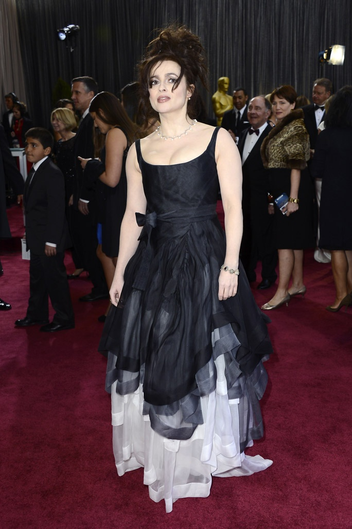 Helena Bonham Carter....hello hot mess and not in a good way...fashion don't