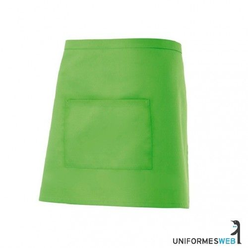 Delantal corto de hosteleriaDelantar corto con bolsillo en el centro.Composición:65% poliester, 35% algodon