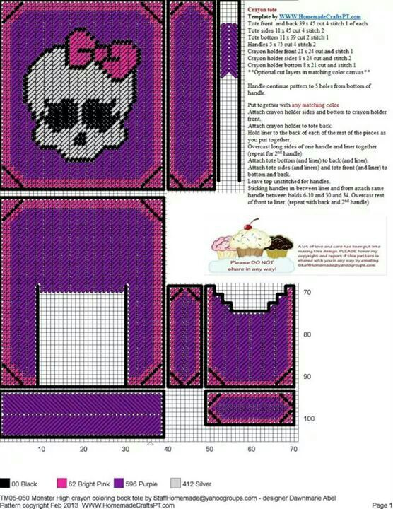 Monster High Crayon Coloring Book Tote