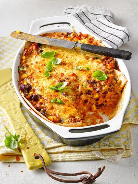 Mells mexikanische Enchilada-Lasagne, ein sehr leckeres Rezept aus der Kategorie Auflauf. Bewertungen: 267. Durchschnitt: Ø 4,6.
