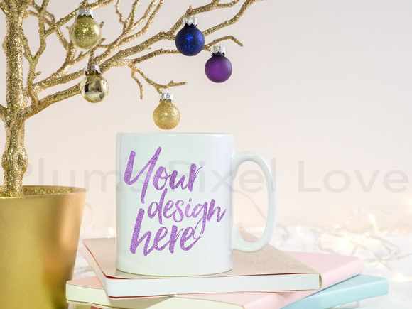 Christmas styled stock mug mock up by Plums Pixel Love on @creativemarket