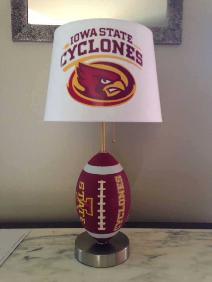 Iowa State football lamp by thatlampguyGraz on Etsy https://www.etsy.com/listing/215199800/iowa-state-football-lamp