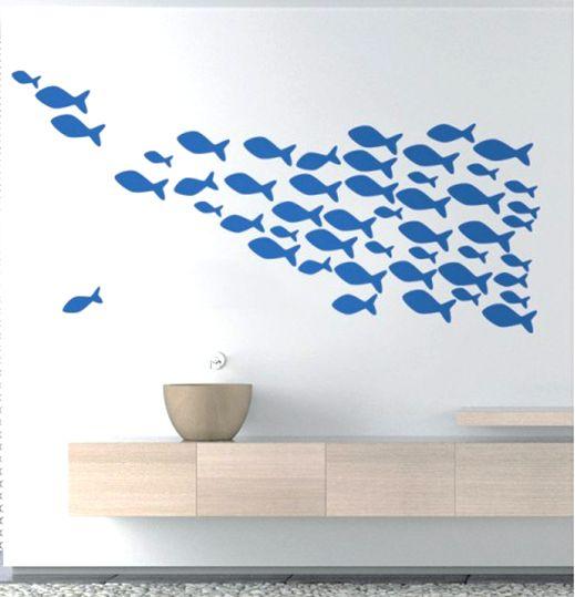 Wandtatoo Fische