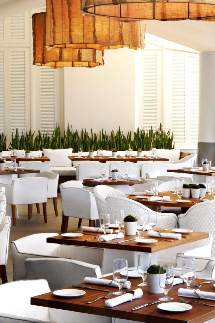 Bianca restaurant serves a menu of local and organic ingredients. Delano South Beach (Miami Beach, Florida) -Jetsetter
