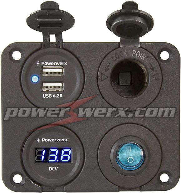 Rocker switch panel marine furthermore Jeep Cherokee Trailhawk Accessories as well Switch 12v 24v in addition Off 12 Volt Selections additionally Switch Panel. on 12v 24v marine boat 6 gang switch panel 4x4