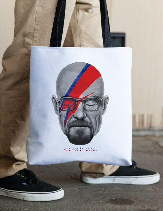 A Lab Insane Breaking Bad David Bowie Tote by Vincent Carrozza