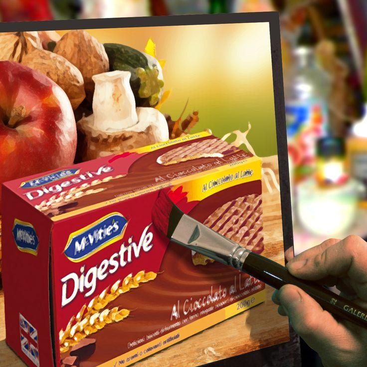 #mcvitiesitalia #mcvitiesdigestivecioccolatoallatte #mcvities #pennello #dipingere #pittura #biscuits #biscotti #sweet #dolce #quadro #food #cibo #cioccolatosoegustoso
