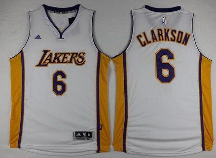 2b46ba86b mens los angeles lakers 6 jordan clarkson adidas white 2016 christmas day  stitched nba swingman jersey