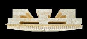 Nouveaux produits bâtiment : Eléments en bois lamellé-croisé Lignotrend : des éléments de plafond multifonctionnels et personnalisés