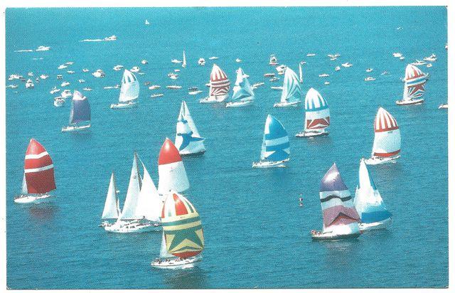 Sailboats on Lake Huron
