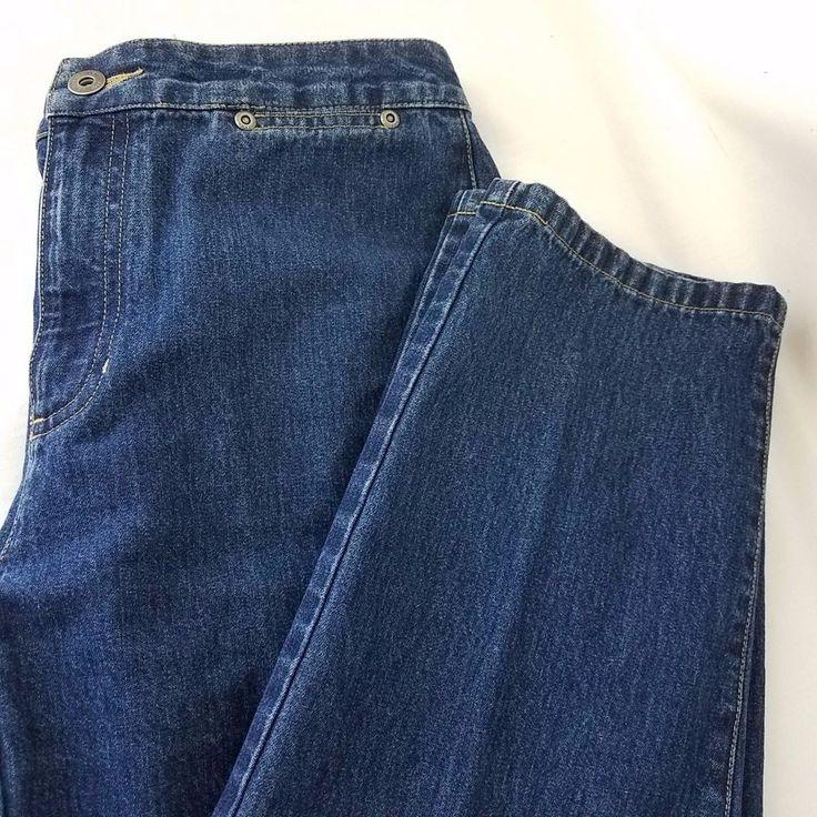 Liz Claiborne Woman's Petite 8 Petite Jean Blue Zipper Front Two Pockets Soft #LizClaiborne #CapriCroppedStraightLeg