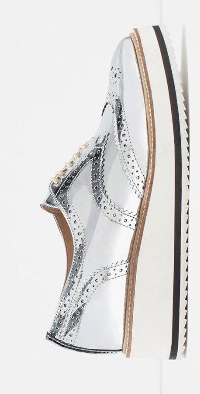Metallic Zara oxfords.