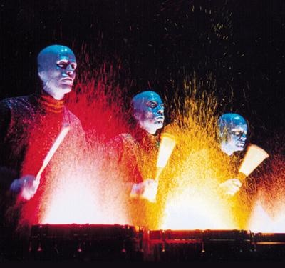 See the Blue Man Group
