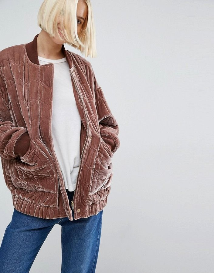 Bundle up in the softest bomber.