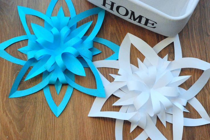 Jak zrobić trójwymiarową śnieżynkę z papieru / How to make a 3D Paper Sn...