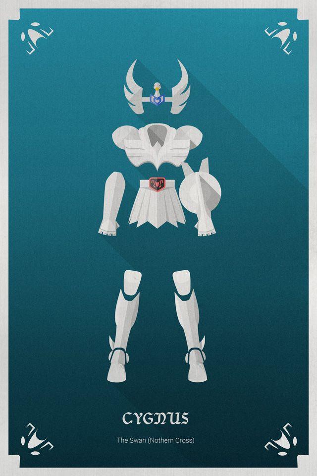 Les chevaliers du zodiaque en Flat Design | w3sh.com