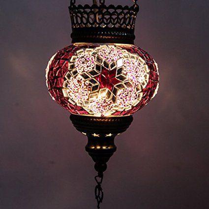 Amazon.co.jp: トルコ製 モザイクガラス オリエンタル ハンドメイド ハンギング 吊り下げランプシェード 12cm turk0353: ホーム&キッチン