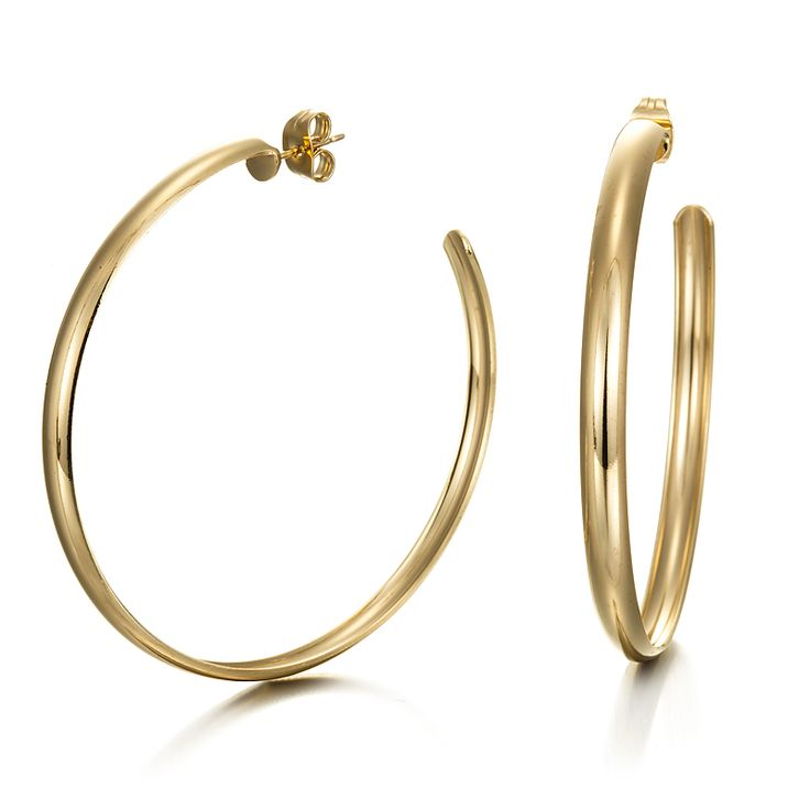 18ct Yellow Gold Layered Extra Wide Hoop Earring | Allure Gold