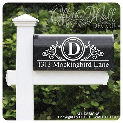 Vinyl Mailbox Lettering Decoration Decal Sticker X2 For Each Side #D4