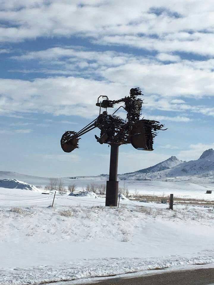 Full Throttle Saloon in winter