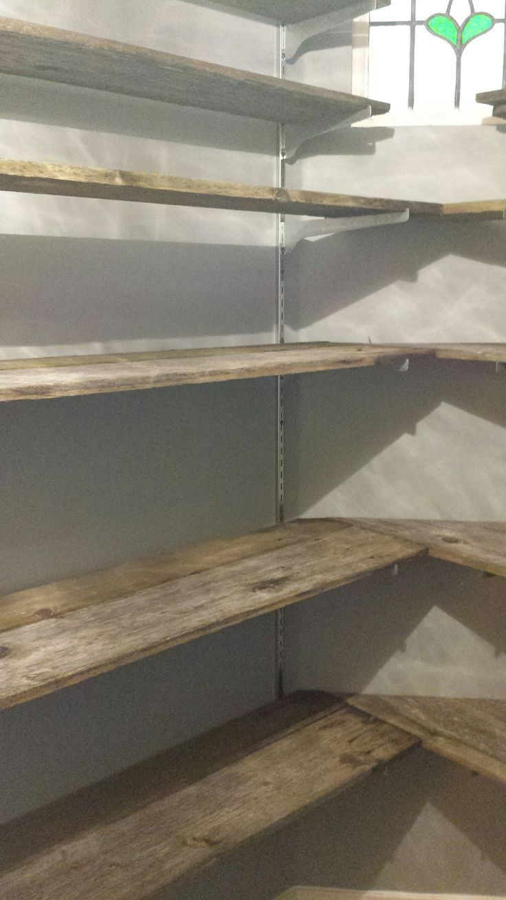 DIY Pantry Salvaged Fence Boards    owners wer #Boards #BUILD #DIY #fence #nice
