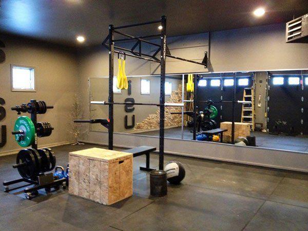 Pretty solid Rogue garage gym CrossFit set up #CrossFit