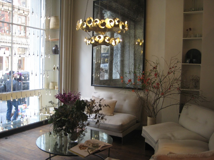 OCHRE New York Show Room. I Like The Contrast Between Aged