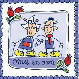 Wenskaart Oma en Opa