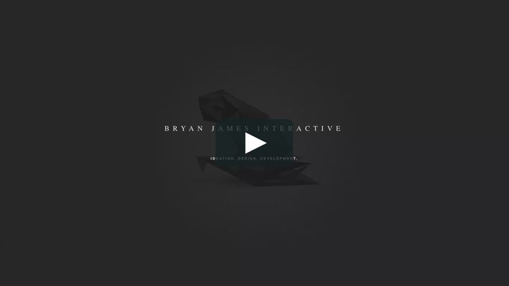"""A showreel containing the interactive works of Amsterdam-based creative, designer and developer Bryan James.  Music: """"DMC 12 Gauge"""" as permissed by…"""