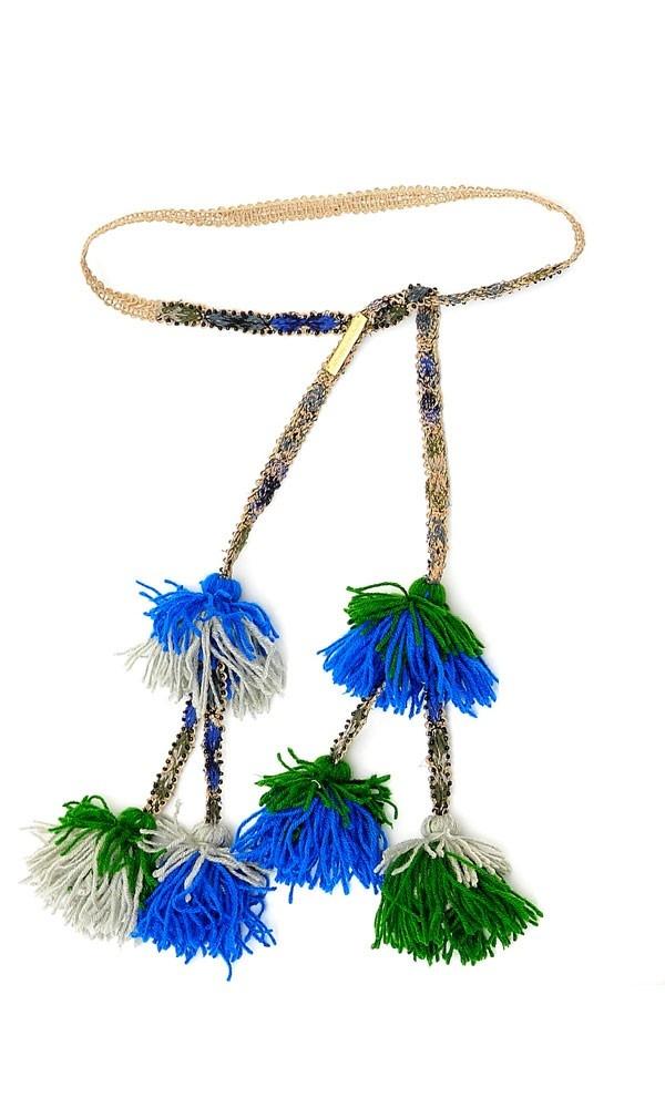 une ceinture sympa et originale un peu hippie avec ses pompom