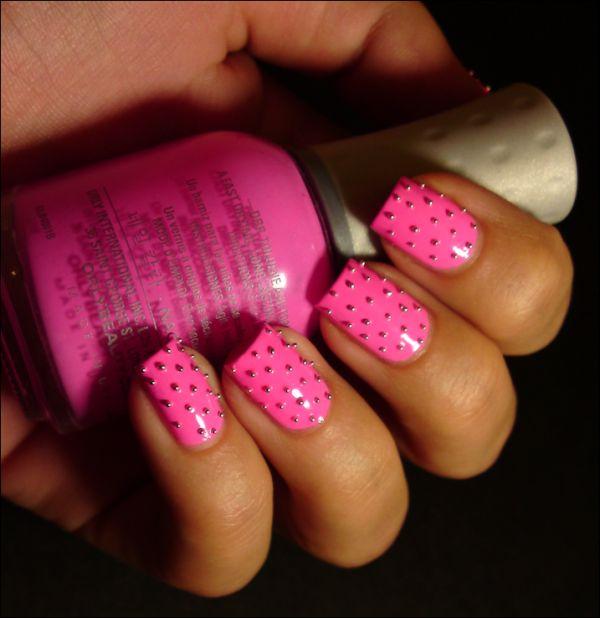 Ivana Thinks Pink: Studded Fancy Fuchsia
