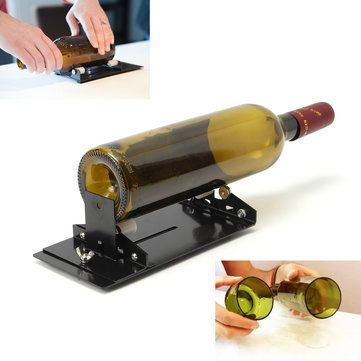 Only US$19.66, buy best Glass Bottle Cutter Machine Cutting Tool Kit Diy Craft Cut Wine Jar Beer Recycle sale online store at wholesale price.US/EU warehouse.