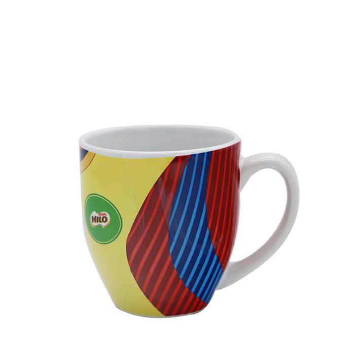 Milo Decal Colorful Drinking Oatmeal Ceramicmug 9oz Ergonomic Handle Design Makes Handheld Feel More Comfortable Mugs Ceramic Mug Ceramics