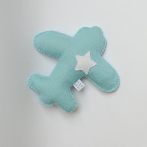 airplane rammelaar lichtblauw witte ster
