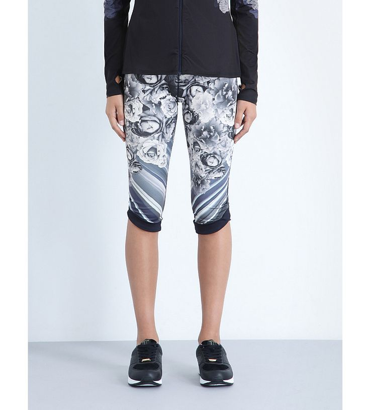 TED BAKER Ampli Blue Bloom cropped jersey leggings
