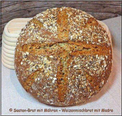 Saaten-Brot mit Möhren und Madre