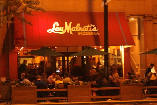 Lou Malnati's Chicago Style Pizza, River North, Chicago- If you're ever up near Chicago, check them out.  You can also order frozen pizza's for delivery to your home no matter where you are!
