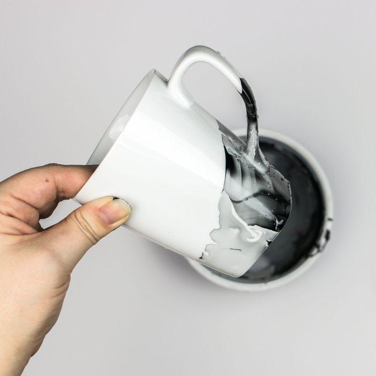 DIY Marmorbecher mit Nagellack – Anleitungen