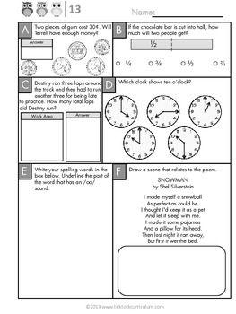 3rd Grade Daily Skills Morning Work Math Pinterest Math