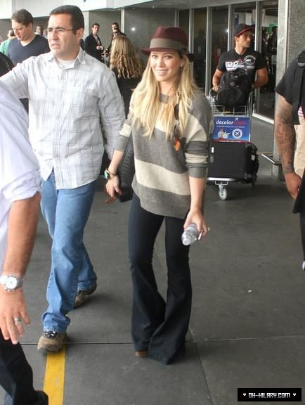 Hilary Duff and Blank NYC Denim Pull on Bell Bottom Photograph