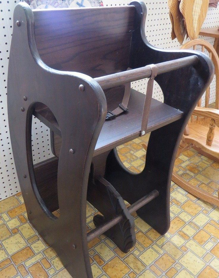 HIGH CHAIR Desk ROCKING HORSE 3-in-1 Amish Handmade Children Furniture SOLID OAK #Handmade