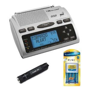 Midland WR-300 Weather Alert AM/FM Clock Radio Kit with Fenix Compact LED Flashlight and AA/AAA Overnight Battery Charger + Four AAA Batteries by Midland. $79.95. The Midland WR-300 23 Code S.A.M.E. Weather Alert Radio offers S.A.M.E. technology (Specific Area Message Encoding), which pre-programs the device to receive only those warnings that apply to your local area. You can choose state, county, and/or nearby counties. The single-speaker radio offers 23 programmable county co...