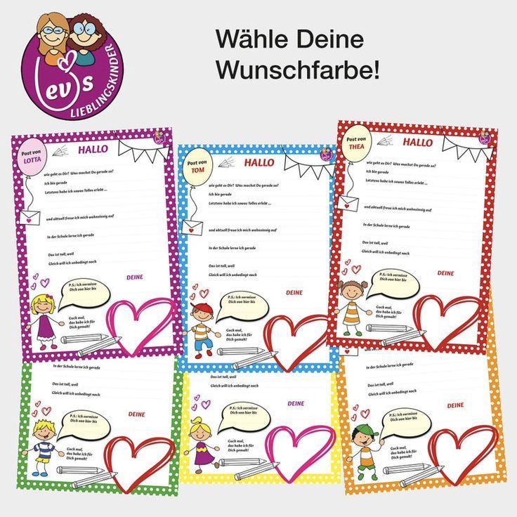 personalisiertes briefpapier für kinder  2 version pdf