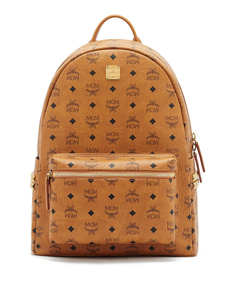Stark Side Stud Medium Backpack, Red - MCM