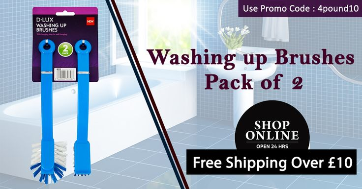 Buy Washing Up Brushes at Low cost #4_Pound Get 10% Off on your orders. Hurry up!! Order : http://www.4pound.co.uk/2pk-washing-up-brushes