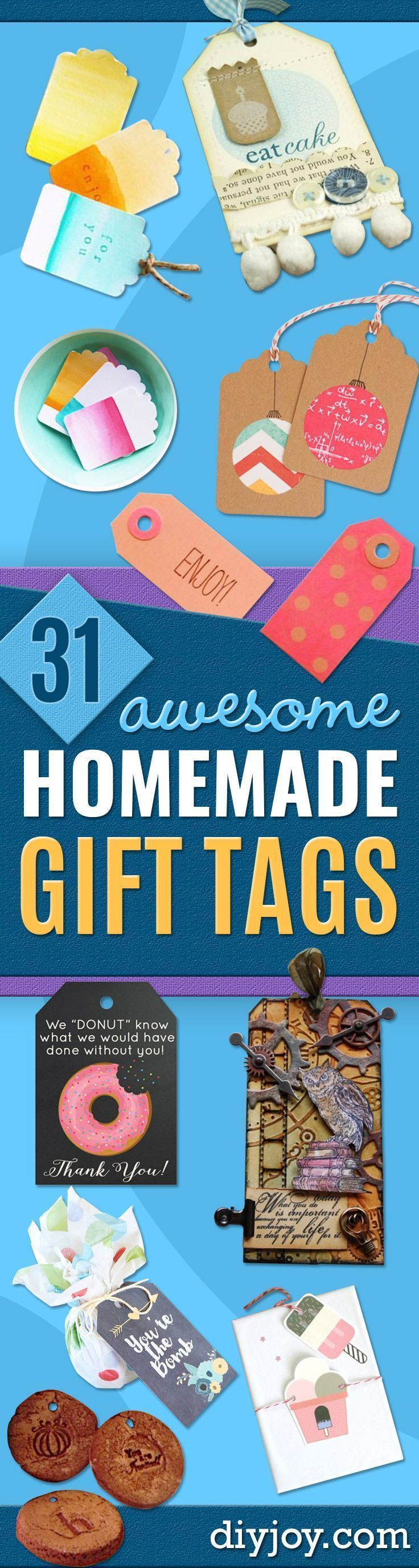 Homemade Gift Cards and Tags  - Easy and Cheap Ideas for Creative Handmade Birthday, Christmas, Mothers Day and Father Day Cards - Cute Holiday Gift Tags, Dollar Store Crafts, Homemade DIY Gifts and Gift Card Holders You Can Make at Home - Fun Crafts for Adults, Kids and Teens http://diyjoy.com/homemade-gift-cards-tags #christmascraftsforkids #ideasforchristmasgiftsforkids #cheaphomemadegiftideas