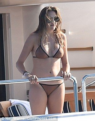 Bikini bod! While her younger sisters joined the family on shore, Sophia, the oldest of the girls at 19, sunned on the yacht